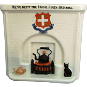 Arcadian England Figural Fireplace * We've Kept the Home FIres Burning *
