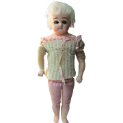 Darling Antique UnMarked Schilling Papier Mache Doll TLC