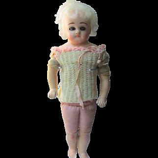 Darling Antique UnMarked Schilling Papier Mache Doll TLC