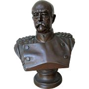 Fabulous Antique Large Bronze Bust of Prince Otto von Bismarck, The Iron Chancellor