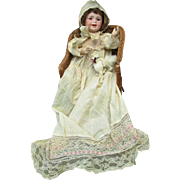 Antique Big Baby Bisque Head Character Doll : Joyous Laughing Jumeau Paris 236 SFBJ