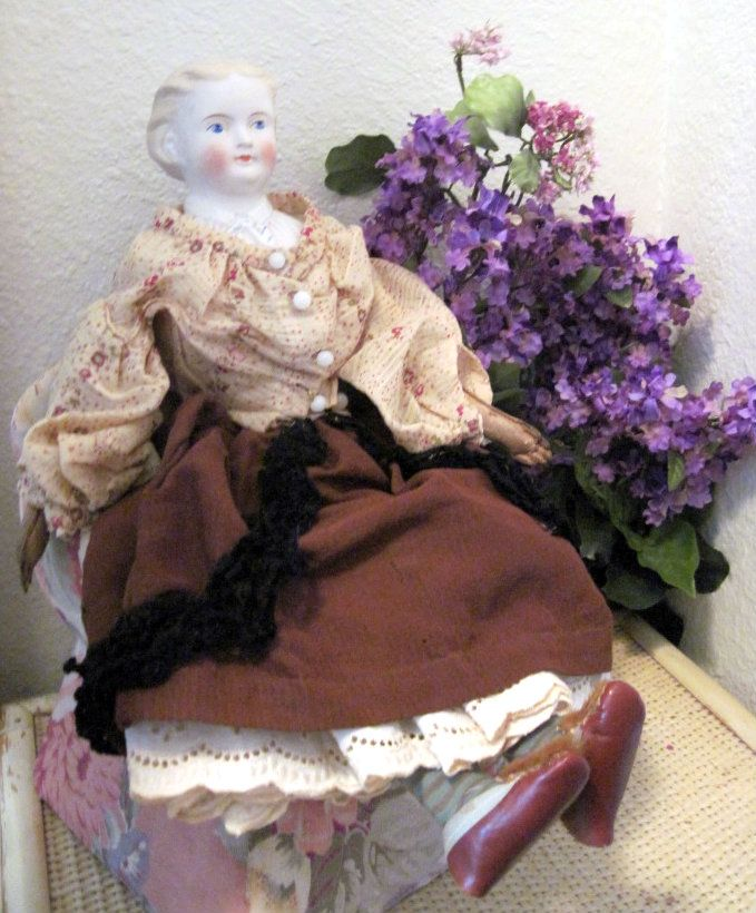 Antique German Kling Parian Bisque Rosa Bonheur Doll
