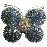18k Diamond and Tanzanite Buttefly Brooch LARGE