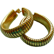 14k Gold Earrings Tubogas Earrings Retro