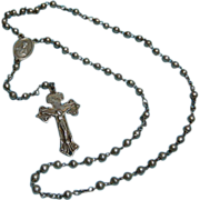Mexican Silver Rosary Sterling Silver Prayer Beads
