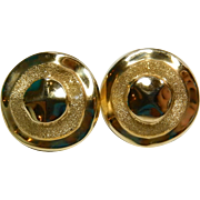 14k Large Round Earrings Unique