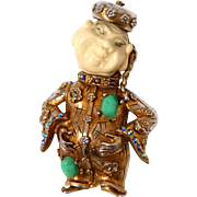 HAR China Man Brooch Pin