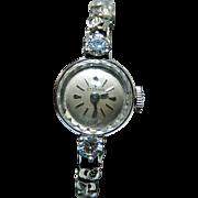14k Diamond Watch Eterna Swiss Watch Ladies Large Diamonds