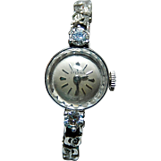 14k Watch Eterna Swiss Watch Ladies Watch Large Diamonds