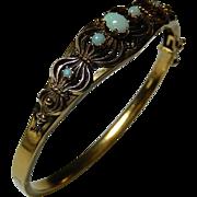 14k Opal Victorian Bracelet Bangle