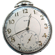14k Elgin GM Wheeler Pocket Watch 17J Art Deco