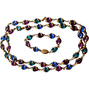 Swarovski Necklace and Bracelet Set Multicolor