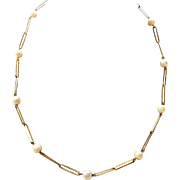 8K Gold and Pearl Necklace Interesting Links Germany
