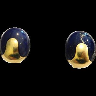 14k Lapis Earrings BOLD