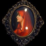 Saint Fabiola 800 Silver Brooch or Pendant St. Fabiola