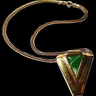 Vintage Lanvin Modernist Necklace Paris 70s Lucite