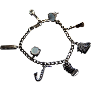 Sterling Charm Bracelet Musical Instruments