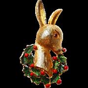 Rudolph Brooch Christmas Pin Reindeer 3D