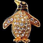 Swarovski Penguin Pin Brooch
