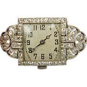 Belle epoque beautiful diamond set brooch watch