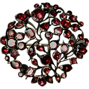 Giardinetti brooch set with closed backed Garnets circa1750