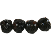 Cute Pug Dog Cufflinks circa 1870