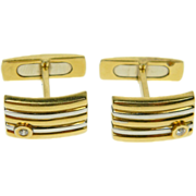 Bi Colour 18ct Gold Heavy 18ct Gold Cufflinks