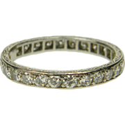 Art Deco Full Hoop Eternity Ring