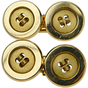 Pair of 18ct Gold Button Cufflinks