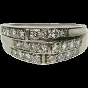 Stylish Geometric 1930's Diamond Ring
