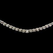 Cushion Cut Diamond Paste Collet Riviere Necklace