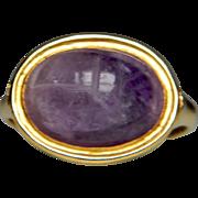 Amethyst Scarab Ring