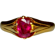 Single Stone Ruby Ring