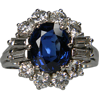 Sapphire, Diamond and Baguette Diamond Cluster Ring - See more at: https://www.dbgems.com/catalogue/rings/sapphire-diamond-and-baguette-diamond-cluster-ring#sthash.e4MsaZeD.dpuf