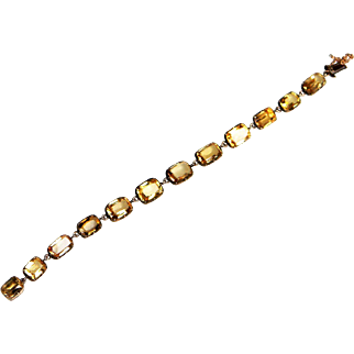 Antique Imperial Golden Topaz Bracelet circa 1820