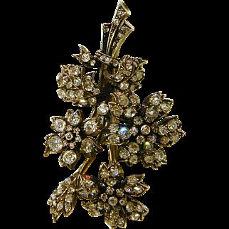 Antique Diamond Spray Brooch