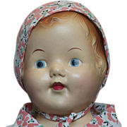 "Vintage Composition Shoulder Head 21""Baby Doll"
