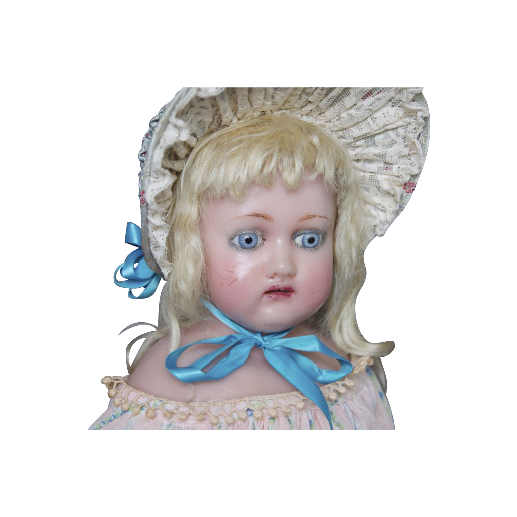 Antique Wax doll with provenance : Terri's 'Treasures from ...
