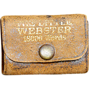 Miniature Webster's Dictionary early 20th century