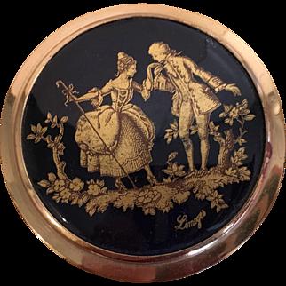 Vintage Limoges Powder Compact