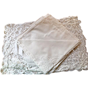 Battenburg Lace Placemats and Napkins - New Old Stock - Set of 4 Each