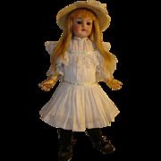 """Antique Kestner Girl - #168, 18"""", Circa 1904.  Sweet, All Antique, Affordable."""