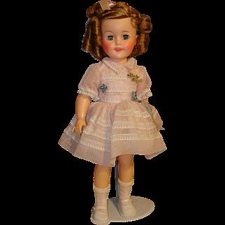 "Shirley Temple 15"" Vinyl Doll Circa 1959-1960 Very Minty"