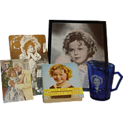 """Shirley Temple Vintage Collectible Items Including 1936 """"My Life And Times"""""""