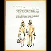 "Original Lithograph ""Les Lepreuses"" by Kees Van Dongen (1877-1968)"