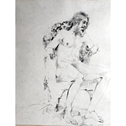 "Original Figure Study Mary R. Rudge (1928-2014) ""Poet Laureate of Alameda"""