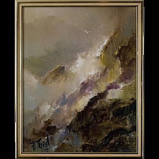 "Alvin Need Painting ""Essence of White Water"", California School, Circa 1970's"