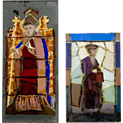 Two Works in Stained Glass by Leone McNeil Zimmer (1916-2014)