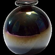 Brian Maytum Vintage Silver Oxide Art Glass Vase