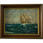Original Nautical Ship Painting by David Maitland McKenzie (1800 - 1875)